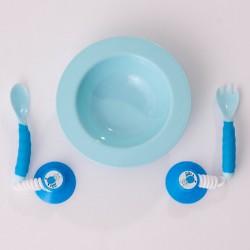 記形聰明餐具組 (藍色)