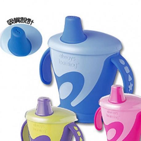 粉彩防漏造型杯(藍)