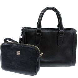 公事包款仕女手提包附錢包(黑)